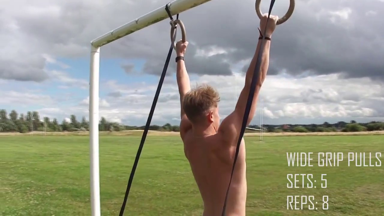 Back Workout Pull Day Gymnastic Rings Bodyweight