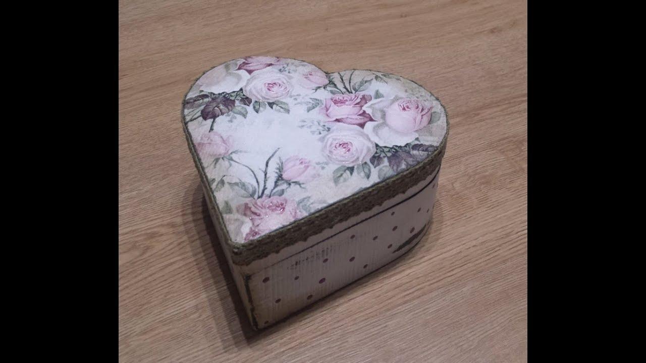 Decoupage en caja de madera youtube - Cajas madera manualidades ...