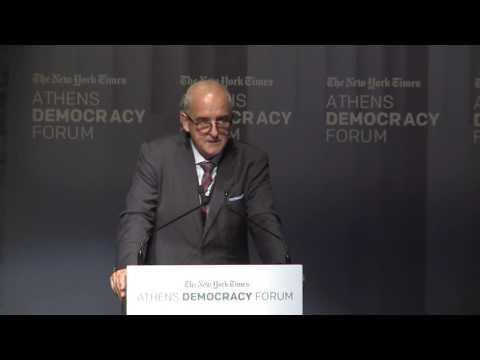 NYT Athens Democracy Forum 2016  - Opening Speech: Democracy Under Challenge
