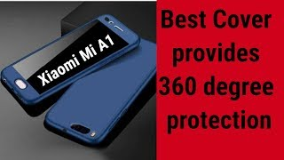 Xiaomi Mi A1 Best Cover provides 360 degree protection with Tempered glass