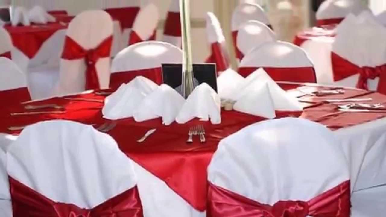 Decoration De La Salle Du Mariage Rouge