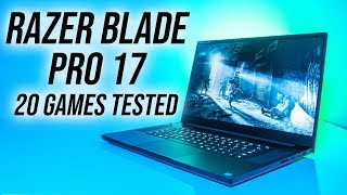 Razer Blade Pro 17 (2019) Gaming Benchmarks - 20 Games Tested!