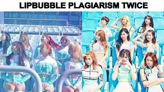 WARNING LIPBUBBLE Plagiarism TWICE RED VELVET
