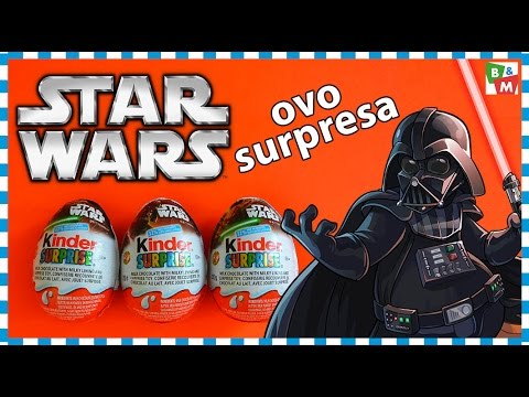 kinder ovo surpresa star wars surprise eggs youtube. Black Bedroom Furniture Sets. Home Design Ideas