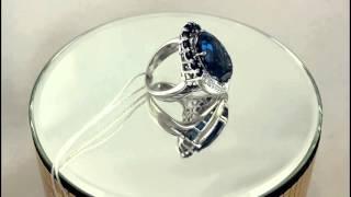 Женское кольцо с белого золота, с вставками Бриллиант, Сапфир, Топаз.(, 2015-11-30T15:20:21.000Z)