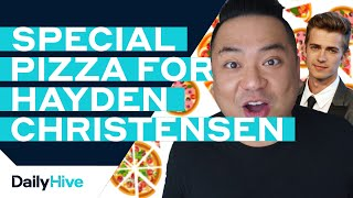 Hayden Christensen Gets a Surprise Pizza Delivery from Andrew Phung