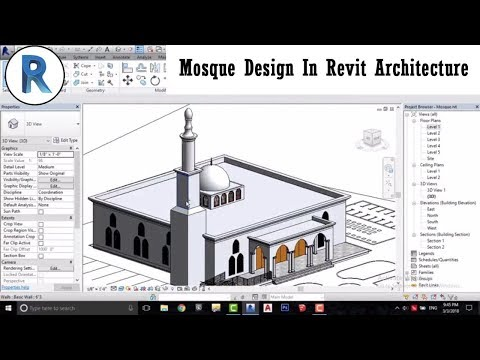 Revit Complete Project #12 | Mosque Design In Revit Architecture Part 1