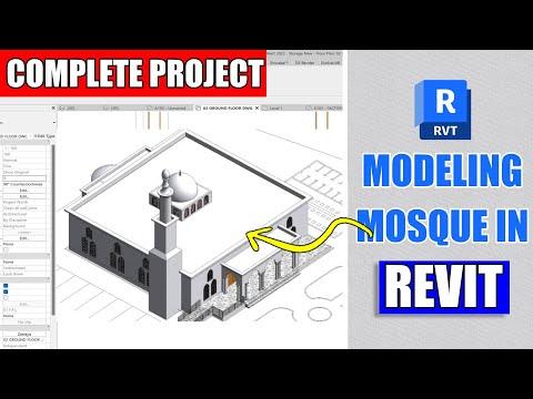 Revit Complete Project #12 | Mosque Design In Revit Architecture Part 1