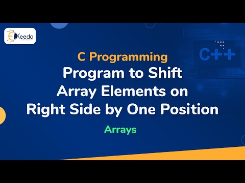 Program to Shift Array Elements on Right Side by One Positio