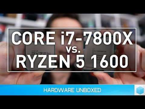 AMD Ryzen 5 1600 vs. Intel Core i7-7800X: 30 Game Battle!