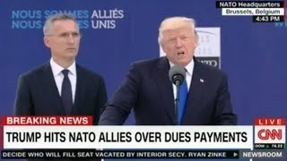 Extended CNN Panel discussion on Trump's address to the leaders of Nato where he reminded them to pa