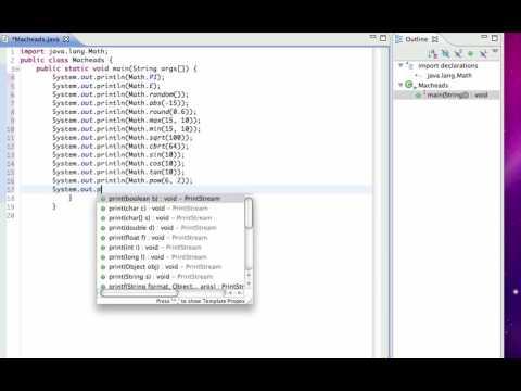 Java Lesson 6 | Java.lang.Math
