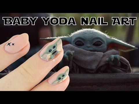 Baby Yoda Nail Art Tutorial thumbnail