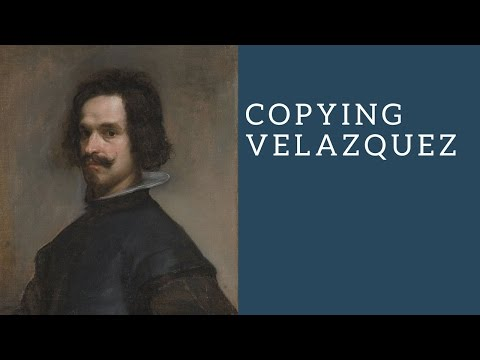Copying a Velazquez - Painting a classical portrait in oils