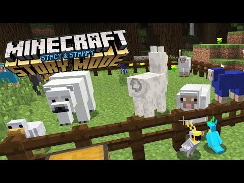 STACY AND STAMPY'S MINECRAFT ZOO! - MY MINECRAFT STORYMODE HOUSE (EP.8)