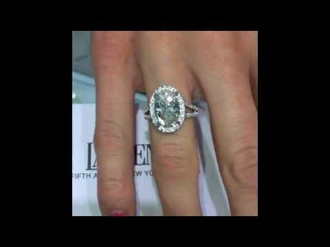 3 15 Ct Oval Cut Diamond Engagement Ring In Halo Split