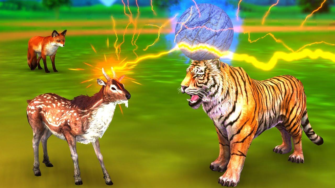 మాయ జింక మరియు పిచ్చి పులి నీతీ కథలు - Telugu Kathalu - Panchatantra Stories in Telugu Fairy Tales