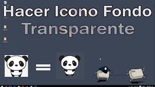 Como hacer iconos con fondo transparente (Personalizar Carpetas)
