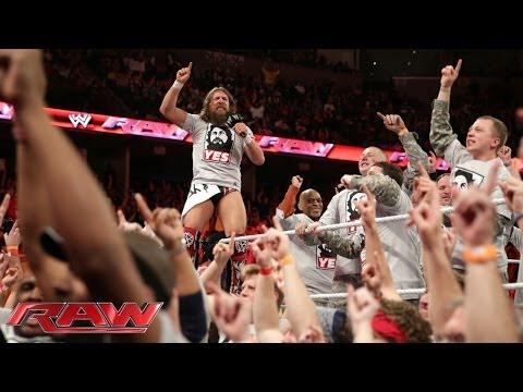 Daniel Bryan occupies Raw: Raw, March 10, 2014