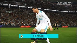 PES 2018 | REAL MADRID vs SD EIBAR | Cristiano Ronaldo Hat Trick | Gameplay PC
