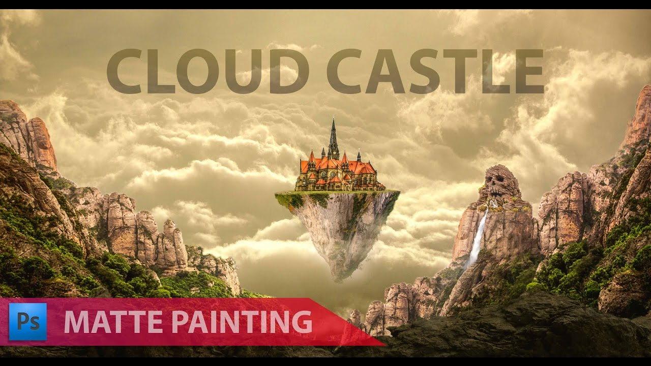 photo manipulation i cloud castle matte painting i photoshop cc