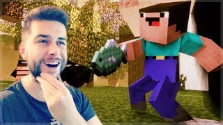 REACTING TO FUNNY MINECRAFT BLOOPERS MOVIE! Minecraft Animations