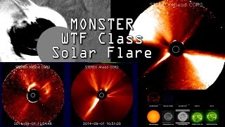 Super X-Class Solar Flare! or a WTF Class Coronal Mass Ejection!