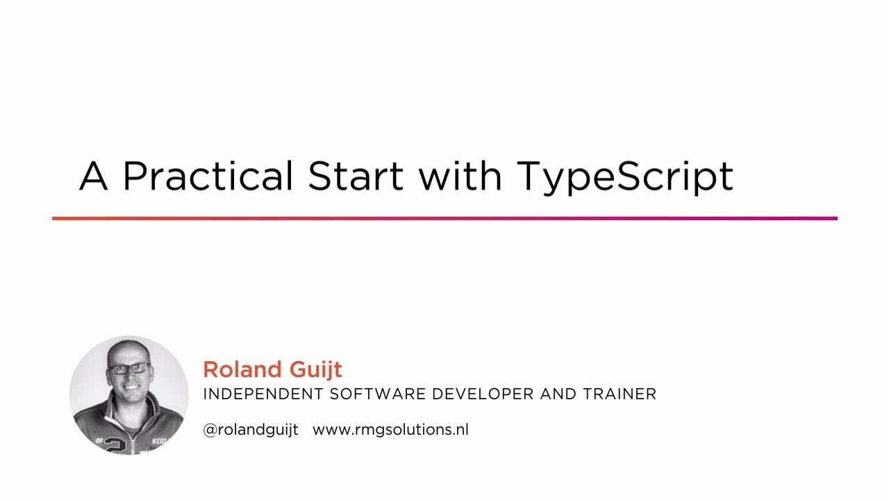 A Practical Start with TypeScript | Pluralsight