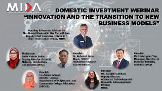 "Domestic Investment Webinar ""Innovation and the Transition to New Business Models"""