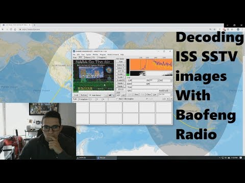 Receiving ISS SSTV images with Baofeng Radio - YouTube