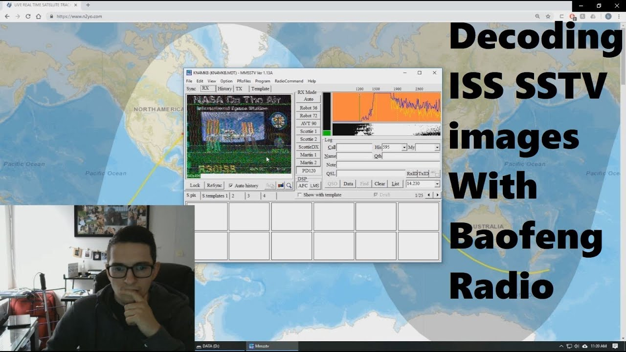Receiving ISS SSTV images with Baofeng Radio