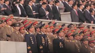 Bee Gees - Stayin' Alive (North Korean Parade) 2017