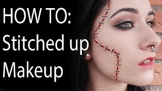 Halloween Makeup Tutorial, Stitches