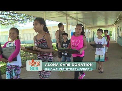 AlohaCare makes donation to Kaewai Elementary School in Kalihi