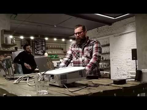 Сергей Омельяненко на тренинге кофе и алкоголь, рецепт Айриш-Кофе