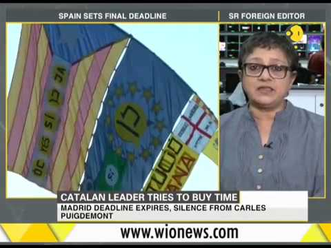 Catalan leader tries to buy time; in a bind over independence or talks