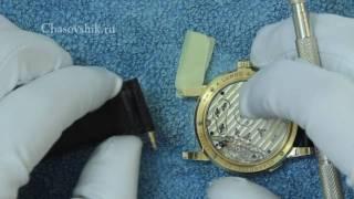 Как поменять ремешок на часах. Инструкция(http://chasovshik.ru/ Замена ремешка на часах. Lange. Инструкция., 2010-08-28T16:10:09.000Z)