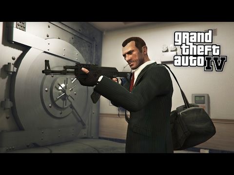 BANK ROBBERY!! (GTA IV, Part 6 Walkthrough)