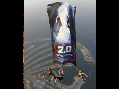 Massive Promotion for Enthiran -2.0  - The ROBOT  | Audio skydiving promotion at Dubai