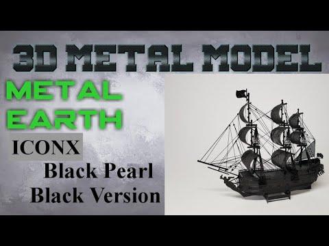 Metal Earth ICONX/Premium Series Build - Black Pearl Black Version (time lapse)
