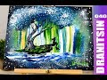Unique Abstract Painting Techniques   Putty knife   Mesh   Squeeze Bottle   Mermaid   Aurora   040