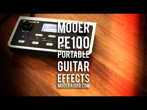 MOOER: PE100 Portable Guitar Effects