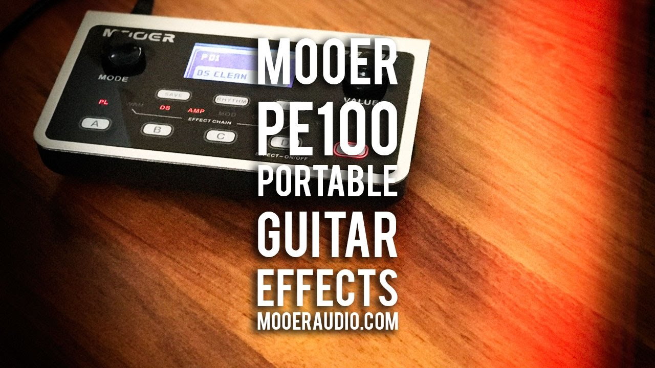 100 Amp Disconnect >> MOOER: PE100 Portable Guitar Effects - YouTube