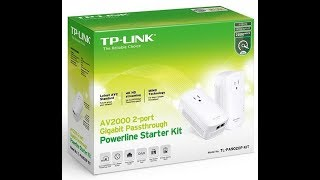 Unboxing and Review of TP-Link AV2000 Powerline Adapter