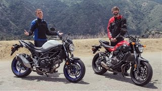 2017 Suzuki SV650 vs Yamaha FZ-07 | On Two Wheels(, 2016-06-24T19:24:21.000Z)