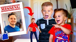 Turning Our Dad Into a Toy! (HE'S MISSING!)