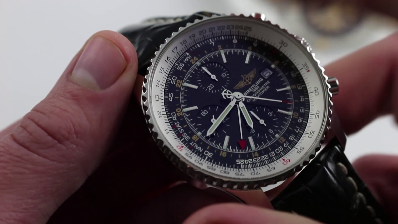 Pre Owned Breitling Navitimer World Luxury Watch Review