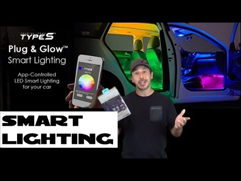 App controlled led smart lighting for you car Type S Plug & Go install
