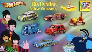 Full Set Hot Wheels The Beatles Yellow Submarine