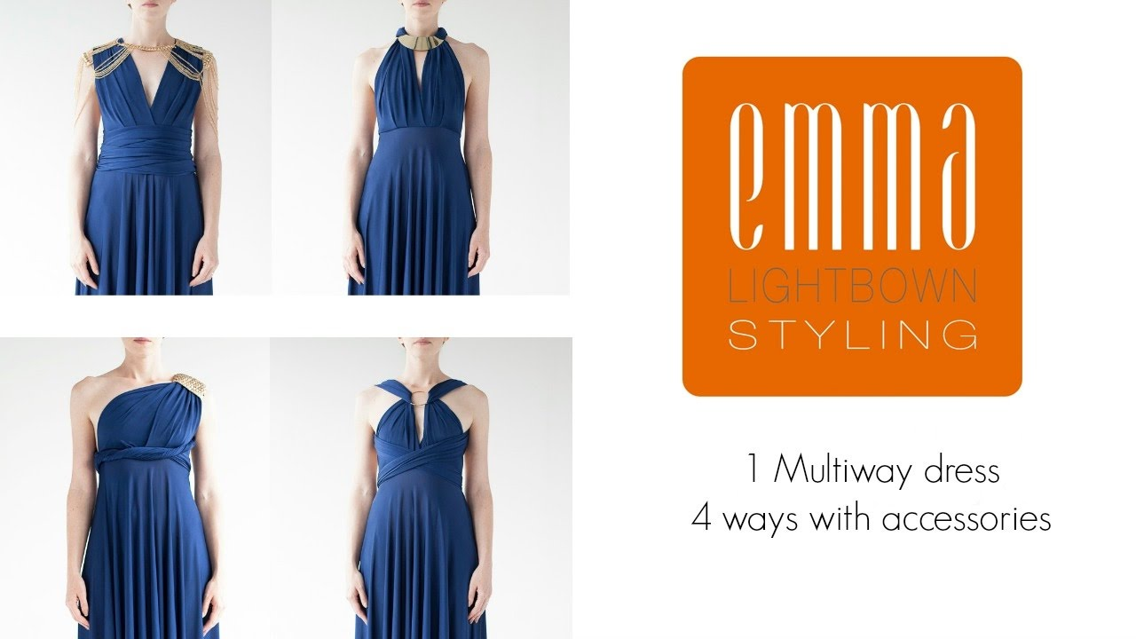 Multiway Dress Tutorial How To Tie An Infinity Dress Using